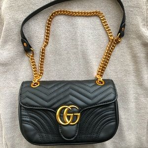 New Gucci GG Marmot Matelassé Mini Bag